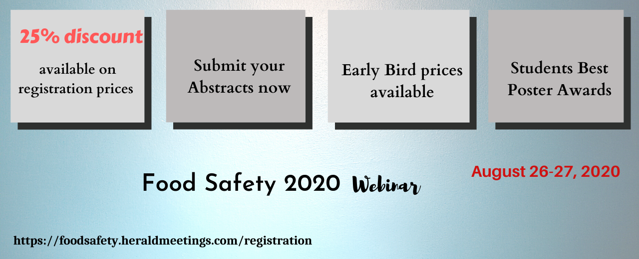 Registration|Food Safety Conferences | Food Security Conferences | Food Hygiene Conferences | Food Safety 2020 | Czech Republic | Europe | Asia | USA